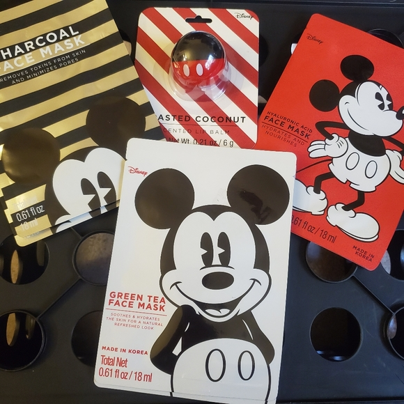 Other - 6 Face Mask & 1 Lip Balm all Mickey Mouse
